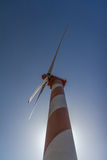 Wind turbine. On a blue sky Stock Images