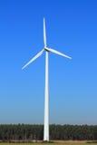 Wind Turbine. On blue sky background Stock Photos