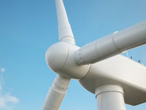 Wind turbine with blue sky Stock Photography