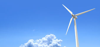 Wind Turbine Blue Sky Royalty Free Stock Photography