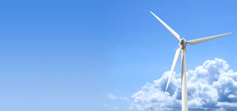 Wind Turbine Blue Sky Stock Image