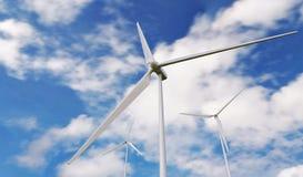Wind turbine. On bluesky Royalty Free Stock Photos