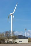 Wind turbine with broken wings after a storm in the Netherlands Stock Photos