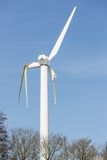 Wind turbine with broken wings after a storm in the Netherlands Stock Images
