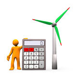 Wind Turbine Calculation Stock Photography