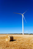 Wind turbine and cereal crop Stock Photos