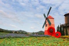 Wind Turbine at chonburi province Stock Photo