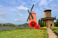 Wind Turbine at chonburi province Stock Photography