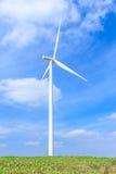 Wind turbine clean energy concept Stock Image