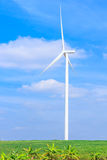 Wind turbine clean energy concept Stock Image