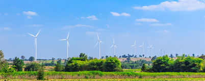 Wind turbine clean energy concept Royalty Free Stock Photography