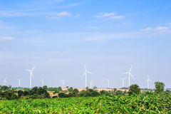 Wind turbine clean energy concept Royalty Free Stock Images