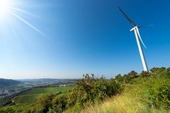 Wind Turbine on a Clear Blue Sky - Verona Italy Stock Photography