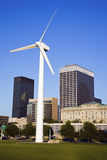 Wind turbine in Cleveland Royalty Free Stock Photo