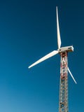 Wind turbine. Close-up of a wind turbine Royalty Free Stock Photos