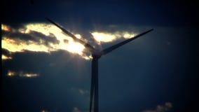 Wind turbine stock video