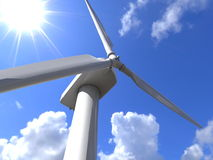 Wind turbine closeup Stock Image