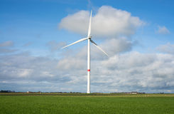 Wind turbine at coast line Stock Photos