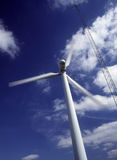 Wind turbine and communications antenna Stock Image
