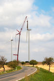 Wind Turbine Construction Royalty Free Stock Images