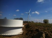Wind turbine construction Royalty Free Stock Photos