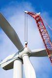 Wind turbine construction Royalty Free Stock Image