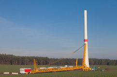 Wind turbine construction site Royalty Free Stock Image