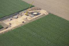 Wind turbine construction site Stock Photo