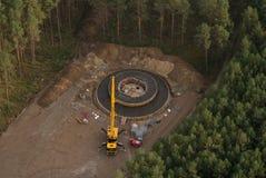 Wind turbine construction site Stock Photos
