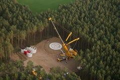 Wind turbine construction site Stock Image