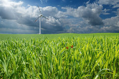 Wind turbine in countryside Royalty Free Stock Images