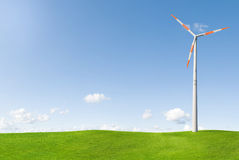Wind turbine in countryside Stock Photography