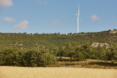 Wind turbine in the countryside. Clean alternative renewable ene Royalty Free Stock Images
