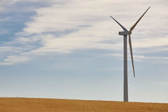Wind turbine in the countryside. Clean alternative renewable ene Stock Images