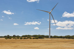 Wind turbine in the countryside. Clean alternative renewable ene Royalty Free Stock Photo