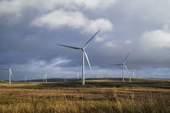 Wind Turbine creating Electricity royalty free stock photography