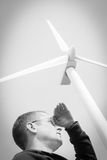 Wind turbine creative concept Stock Photography