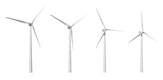 Wind Turbine cutout Royalty Free Stock Image