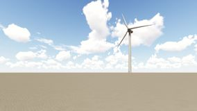 Wind Turbine in desert royalty free illustration