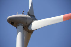 Wind turbine detail- back Royalty Free Stock Photo
