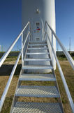 Wind turbine door Stock Image