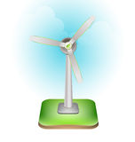 Wind turbine ecology concept vector design Stock Image