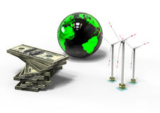 Wind Turbine economy Royalty Free Stock Photo
