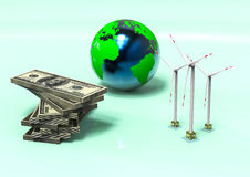 Wind Turbine economy Royalty Free Stock Images