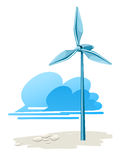 Wind turbine for electricity energy generation Royalty Free Stock Image