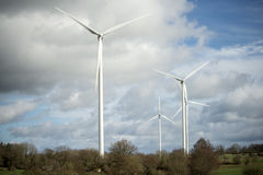 Wind turbine for electricity production Stock Photos