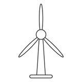 Wind turbine energy bio tower thin line Stock Image