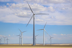 WInd turbine energy blades on Great Plains in Montana Royalty Free Stock Photography
