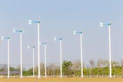Wind Turbine energy in rural farm Royalty Free Stock Image