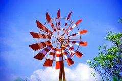 Wind turbine. Energy by wind for safe world Stock Image